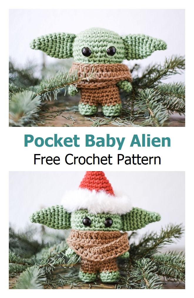 Pocket Baby Alien Free Crochet Pattern