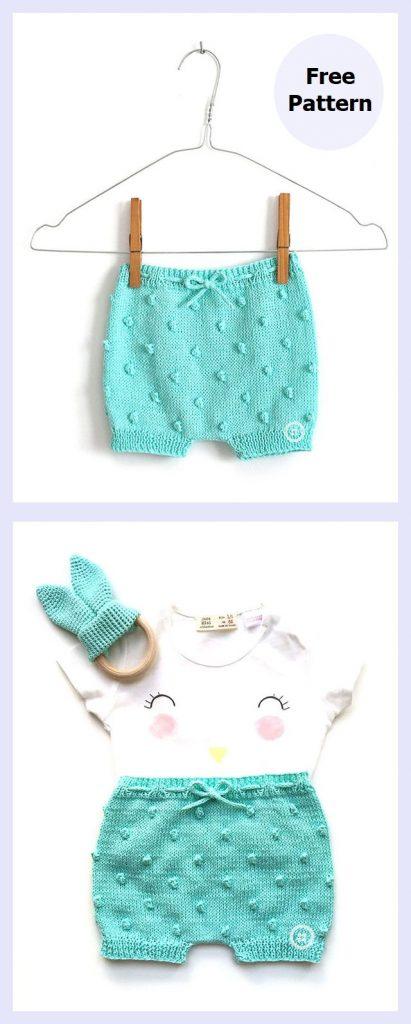 Popcorn Baby Shorts Free Knitting Pattern
