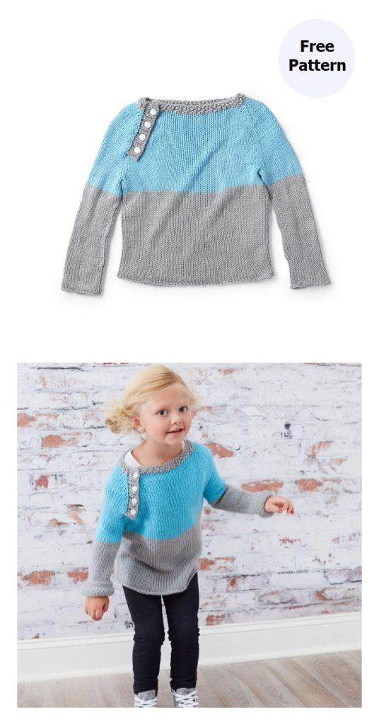 Raglan Pullover Free Knitting Pattern