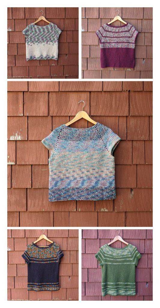 Raglan Top Free Crochet Pattern