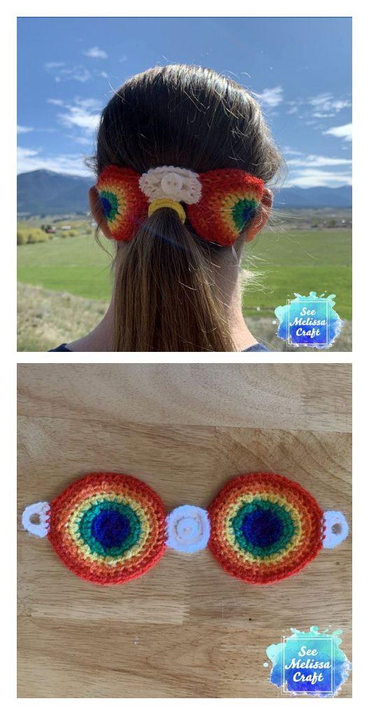 Rainbow Ear Savers Free Crochet Pattern