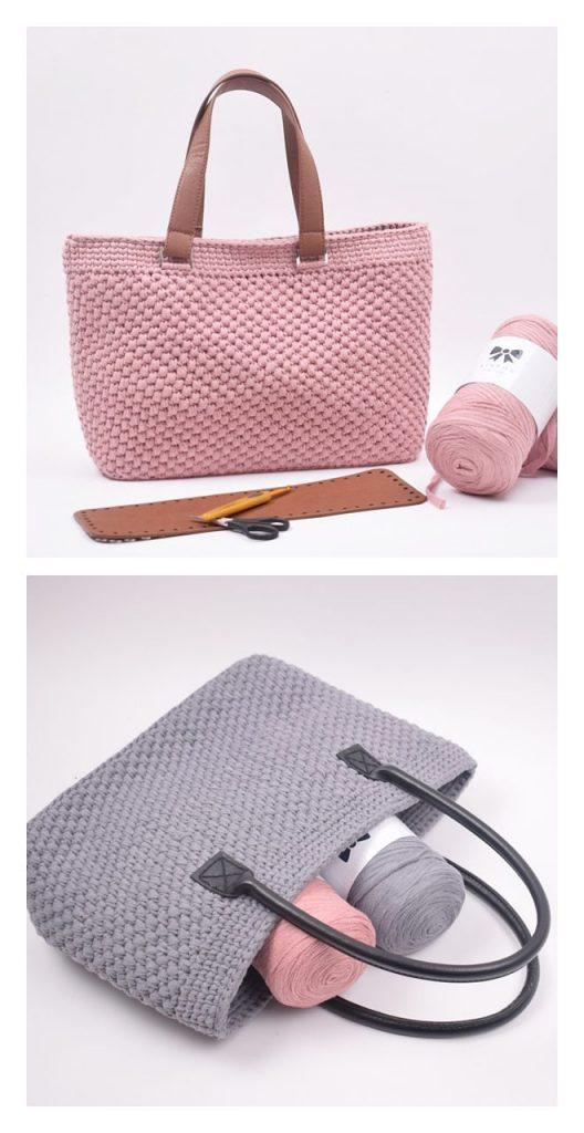 Ribbon Shopper Handbag Pattern