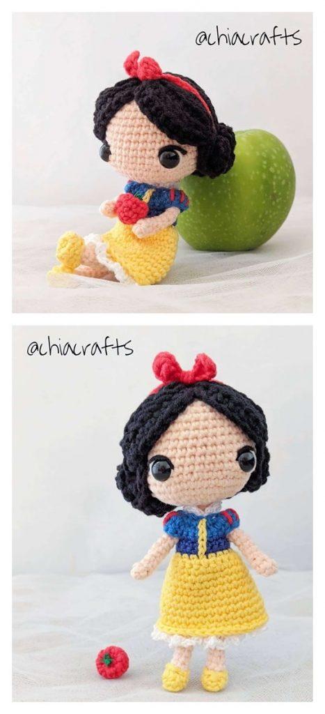 Snow White Free Amigurumi Pattern