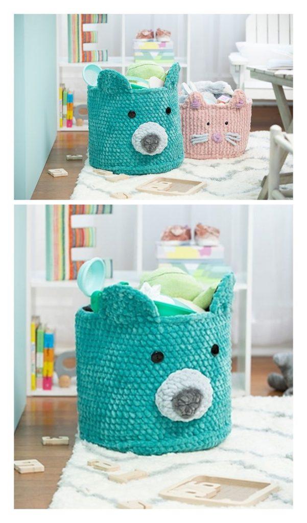 Sweet Snuggles Bear Basket Pattern