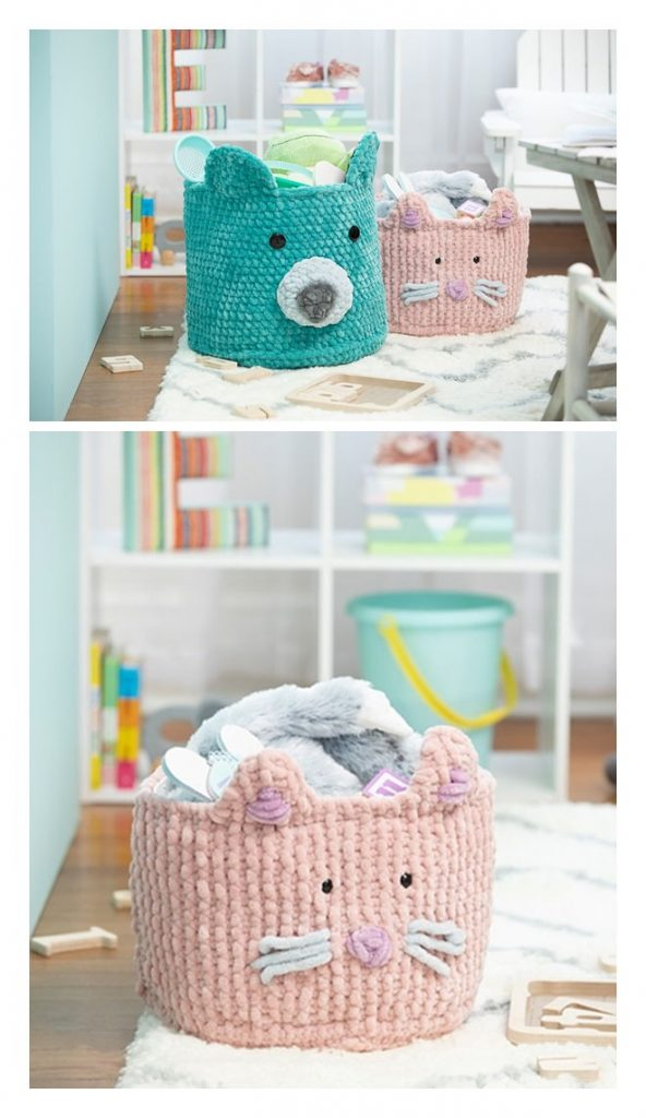 Sweet Snuggles Kitty Basket Pattern