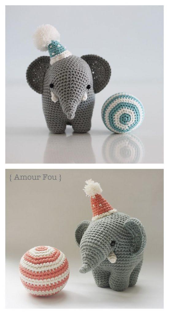 The Balancing Elephant Free Crochet Pattern