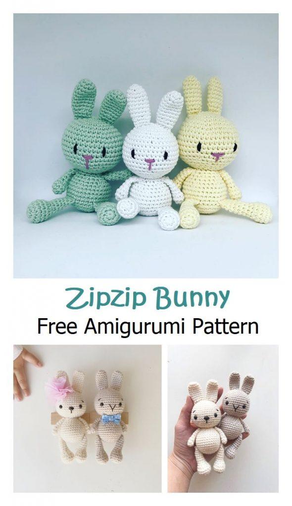 Zipzip Bunny Free Amigurumi Pattern