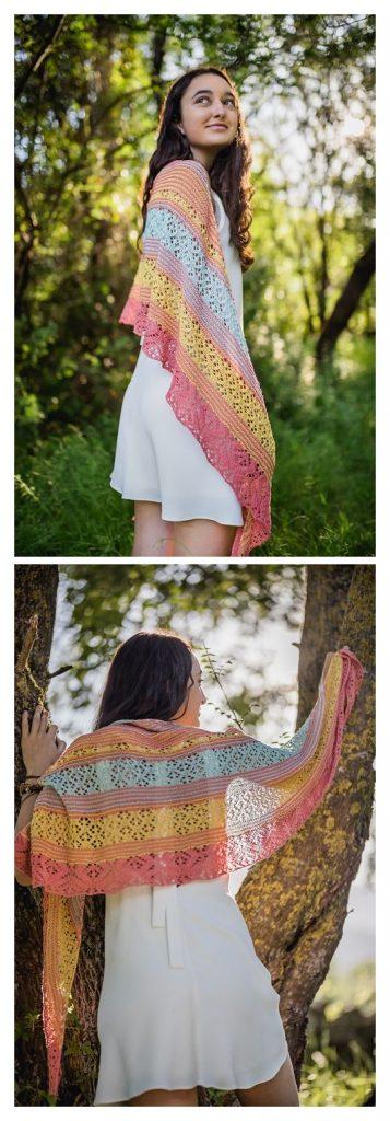 Arraial Wrap Free Knitting Pattern