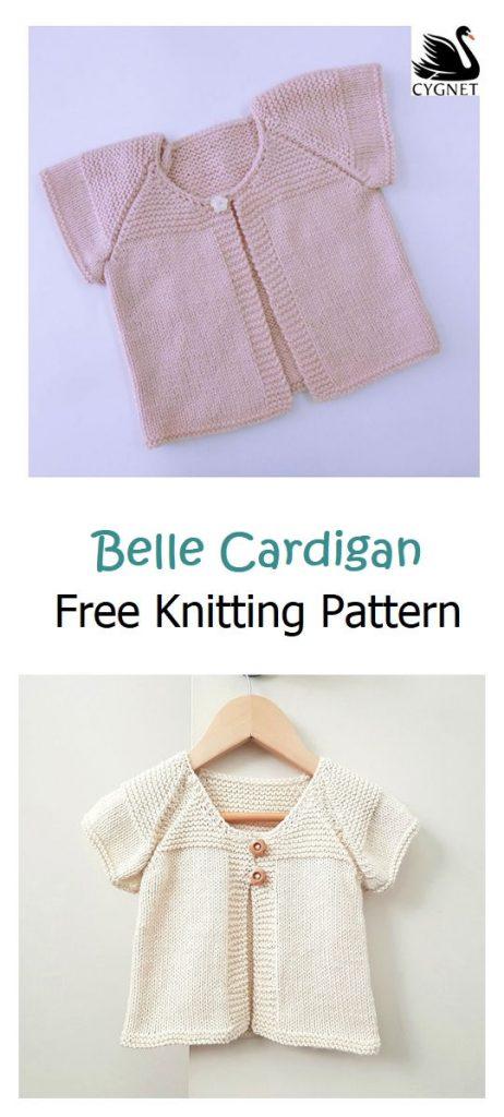 Belle Cardigan Free Knitting Pattern