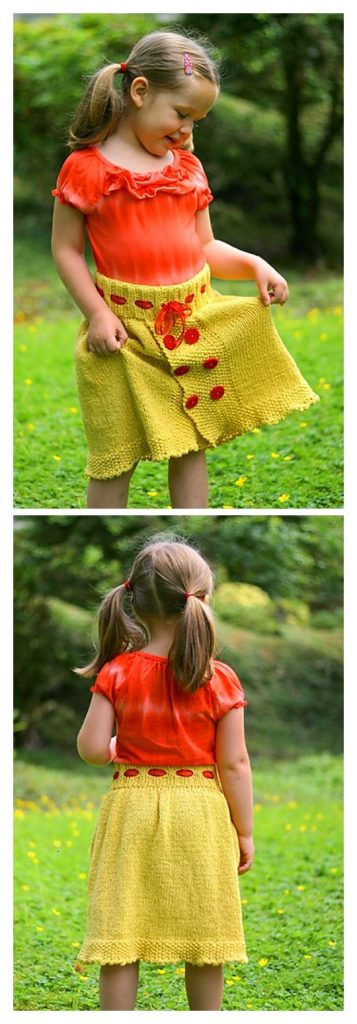 Belle Skirt Free Knitting Pattern