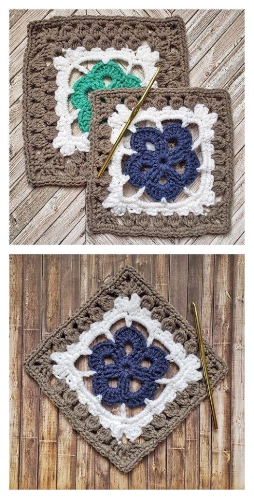 Blossom Square Free Crochet Pattern