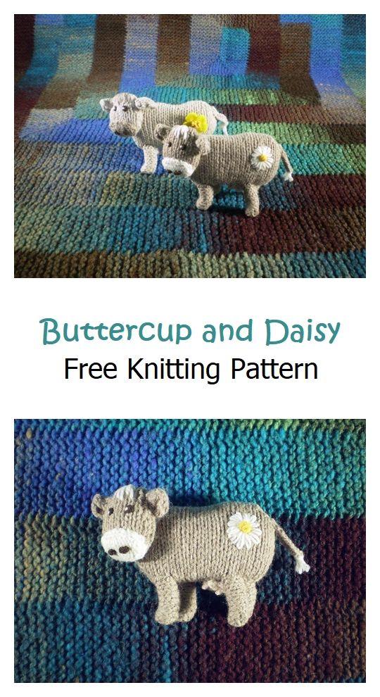 Buttercup and Daisy Free Knitting Pattern