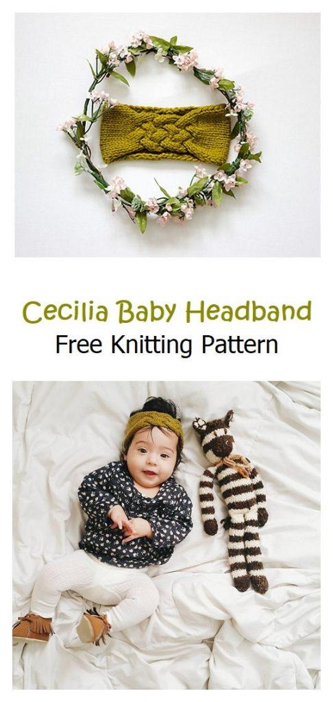 Cecilia Baby Headband Free Knitting Pattern