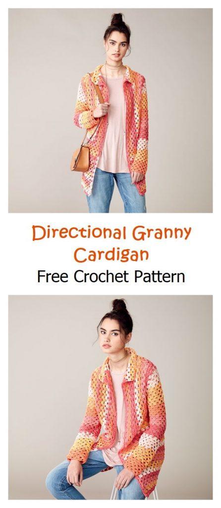 Directional Granny Cardigan Pattern