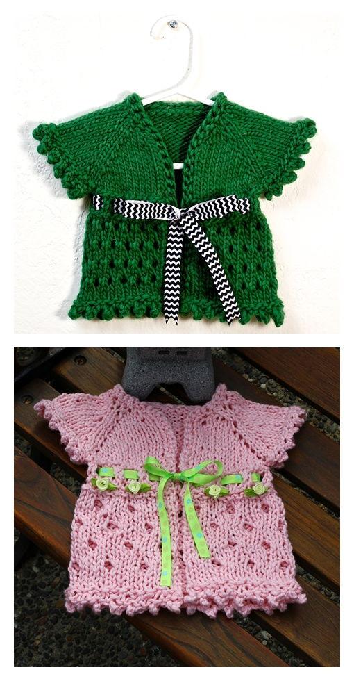 Dirghagama Baby Cardigan Pattern