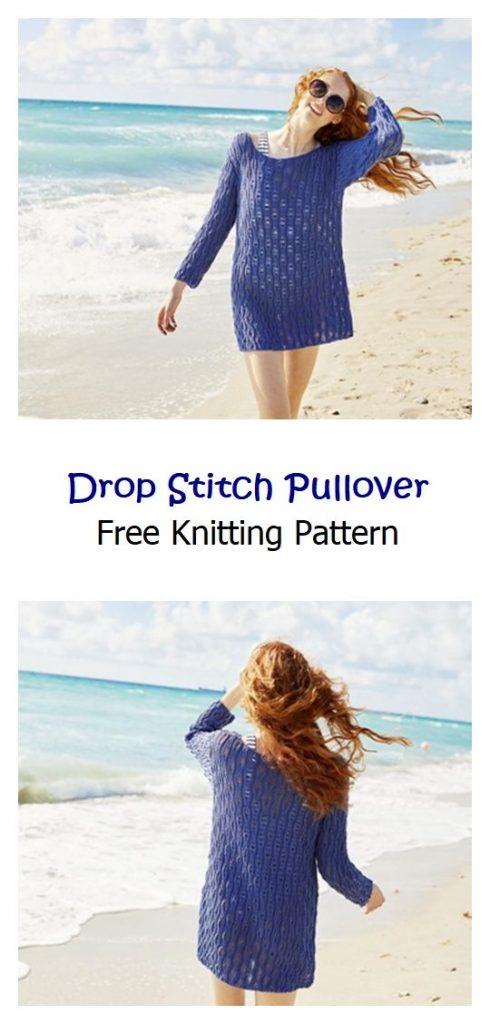 Drop Stitch Pullover Free Knitting Pattern