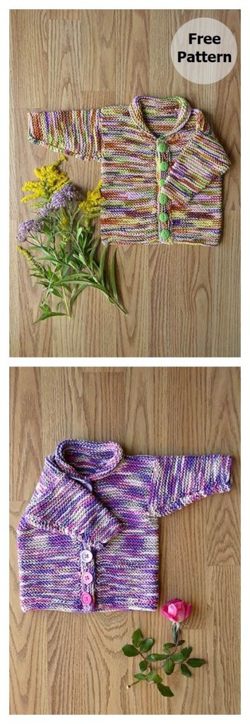 Easy Baby Cardi Free Knitting Pattern