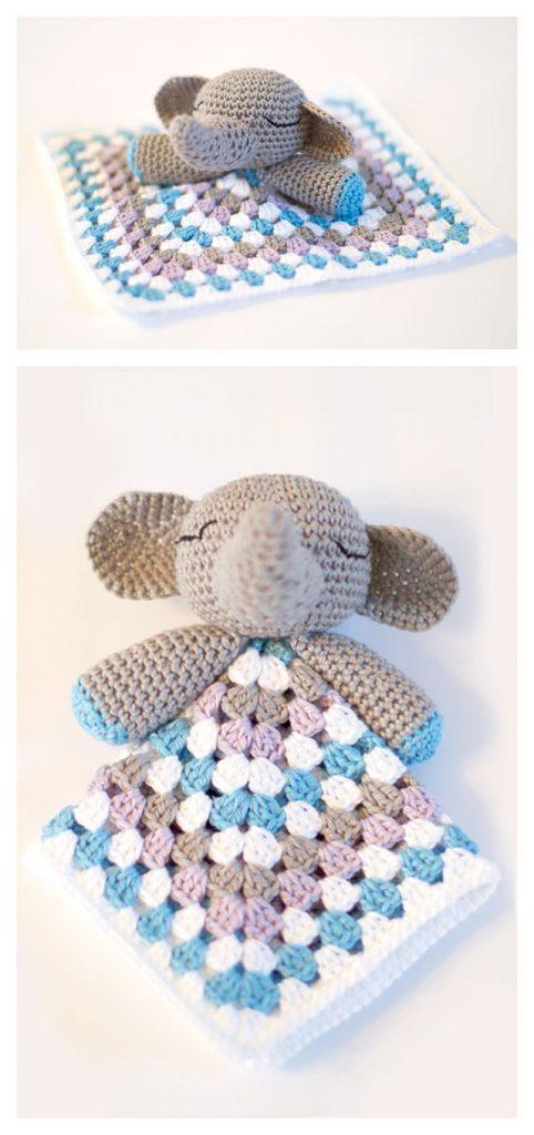 Elephant Snuggle Free Crochet Pattern