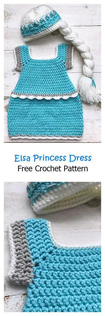 Elsa Princess Dress Free Crochet Pattern