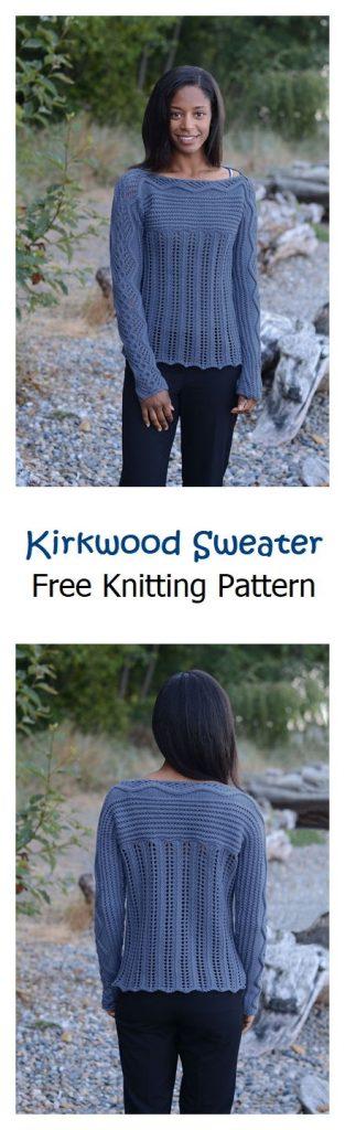 Kirkwood Sweater Free Knitting Pattern