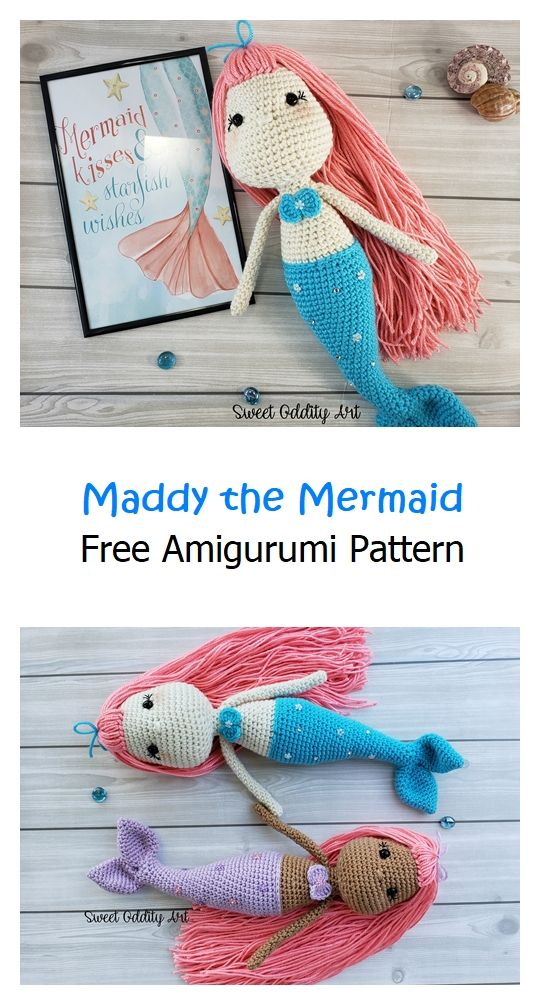 Maddy the Mermaid Free Amigurumi Pattern