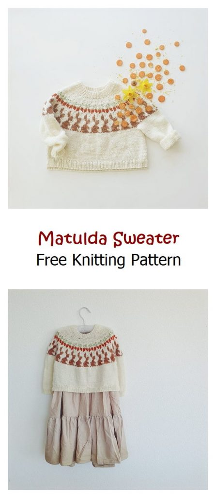 Matulda Sweater Free Knitting Pattern