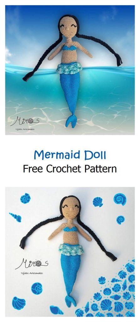 Mermaid Doll Free Crochet Pattern