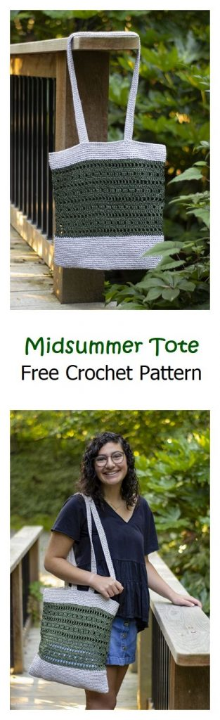 Midsummer Tote Free Crochet Pattern