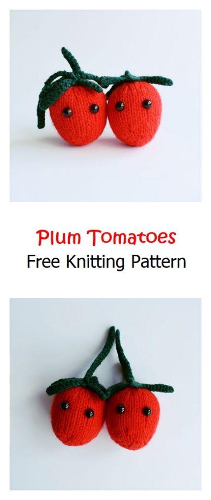 Plum Tomatoes Free Knitting Pattern