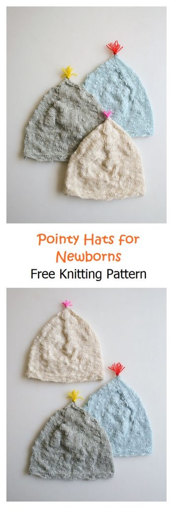 Pointy Hats for Newborns Pattern