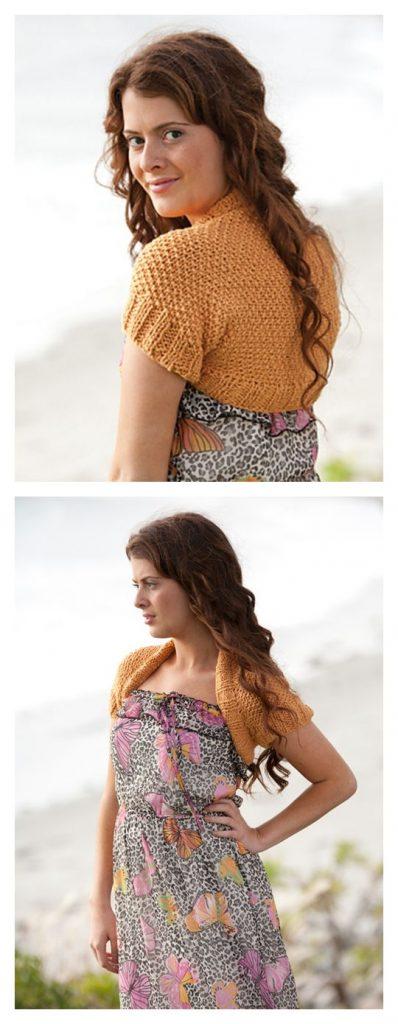 Riptide Bolero Free Knitting Pattern