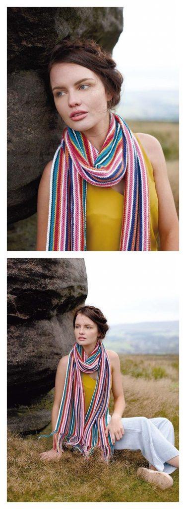 Ruff Scarf Free Knitting Pattern