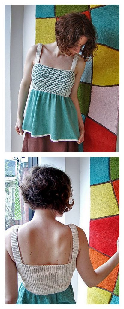 Smocked Top Free Knitting Pattern