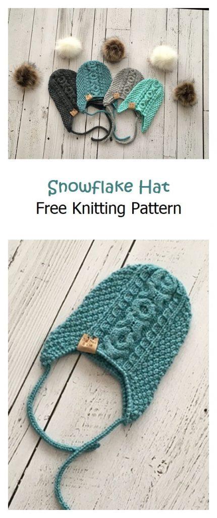 Snowflake Hat Free Knitting Pattern