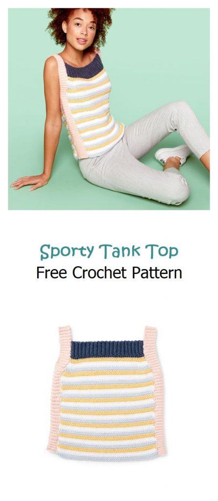 Sporty Tank Top Free Crochet Pattern