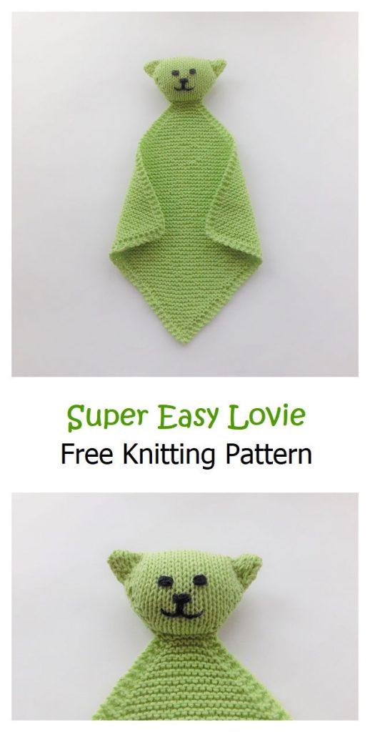 Super Easy Lovie Free Knitting Pattern