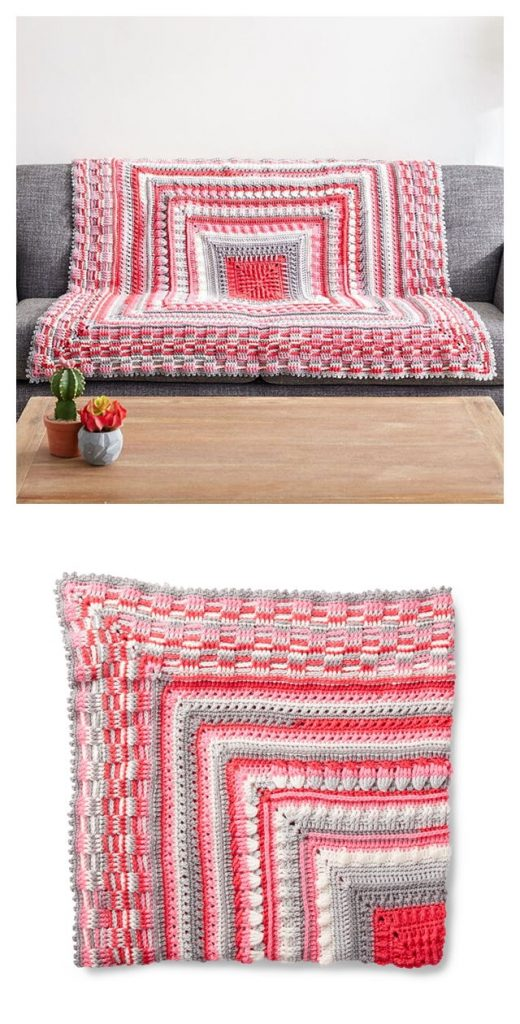 Study of Texture Afghan Free Crochet Pattern