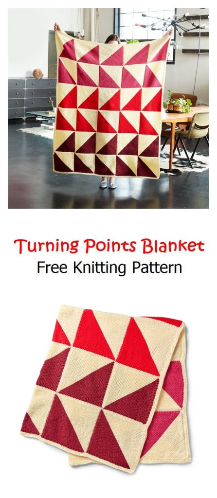 Turning Points Blanket Free Knitting Pattern