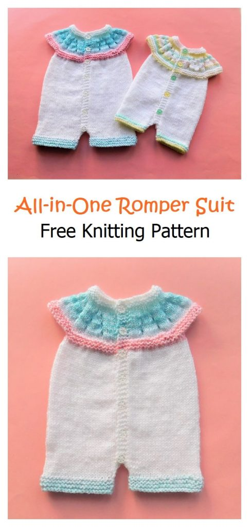 All-in-One Romper Suit Free Knitting Pattern