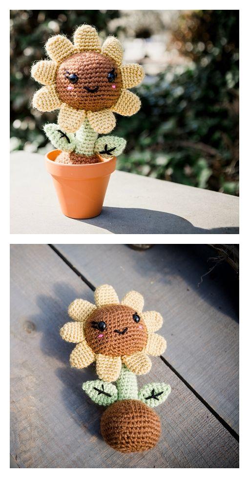 April the Sunflower Free Amigurumi Pattern