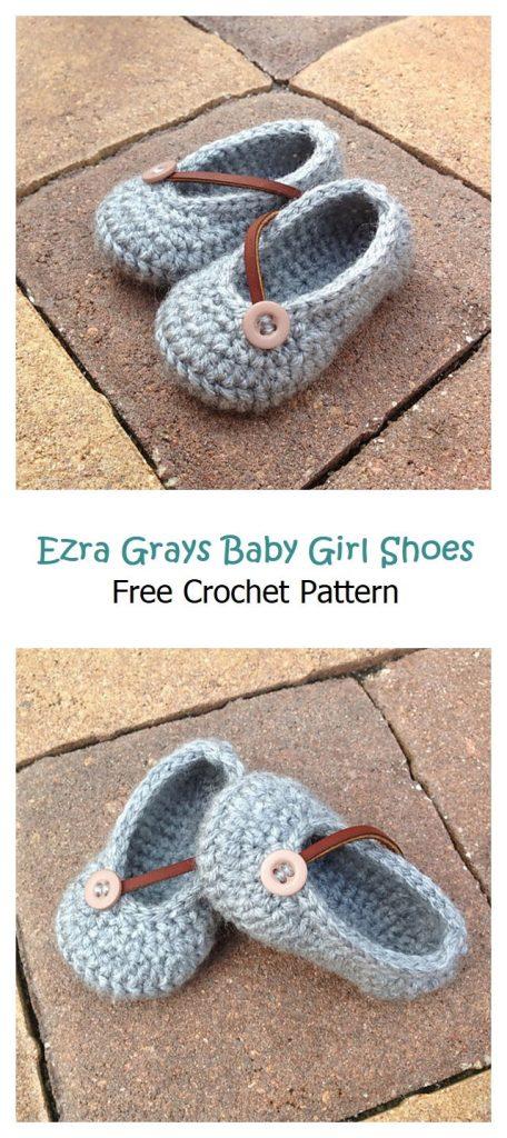 Ezra Grays Baby Girl Shoes Pattern