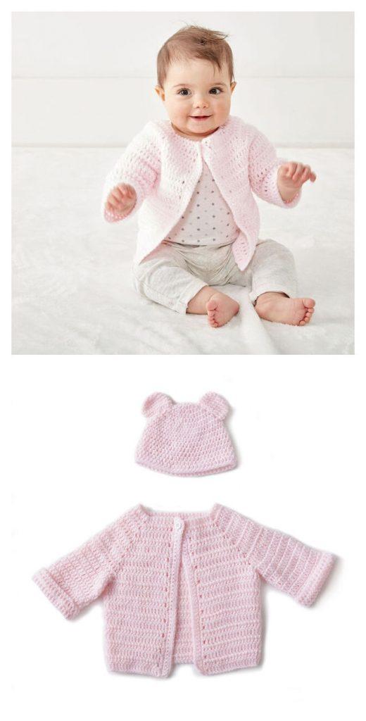 Baby Jacket Set Free Crochet Pattern