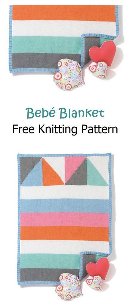 Bebé Blanket Free Knitting Pattern