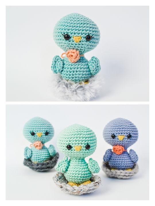 Blu The Bird Free Amigurumi Pattern