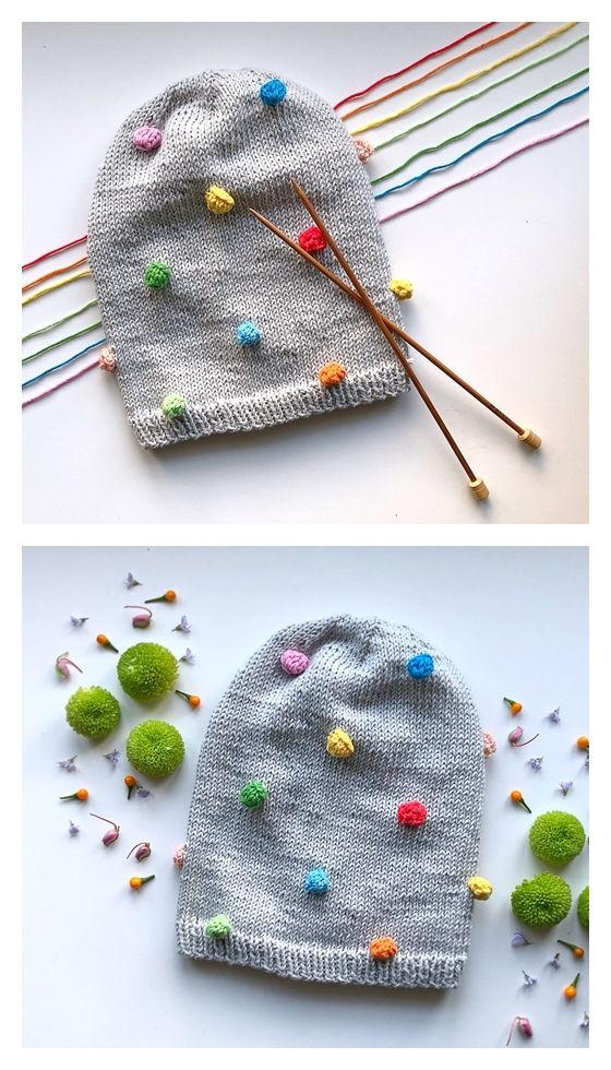 Bobble Beanie Free Knitting Pattern