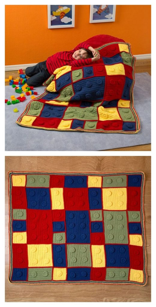 Building Blocks Throw Free Crochet Pattern