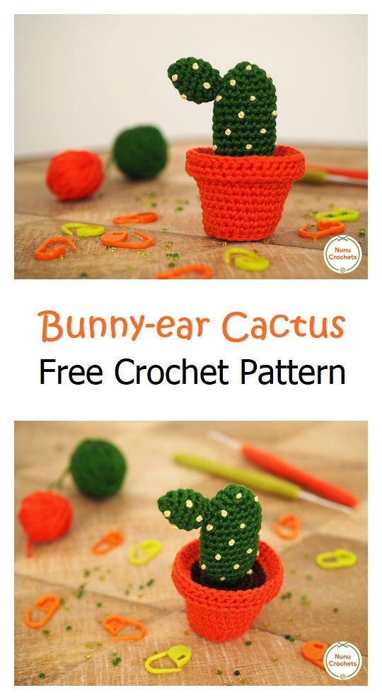 Bunny-ear Cactus Free Amigurumi Pattern