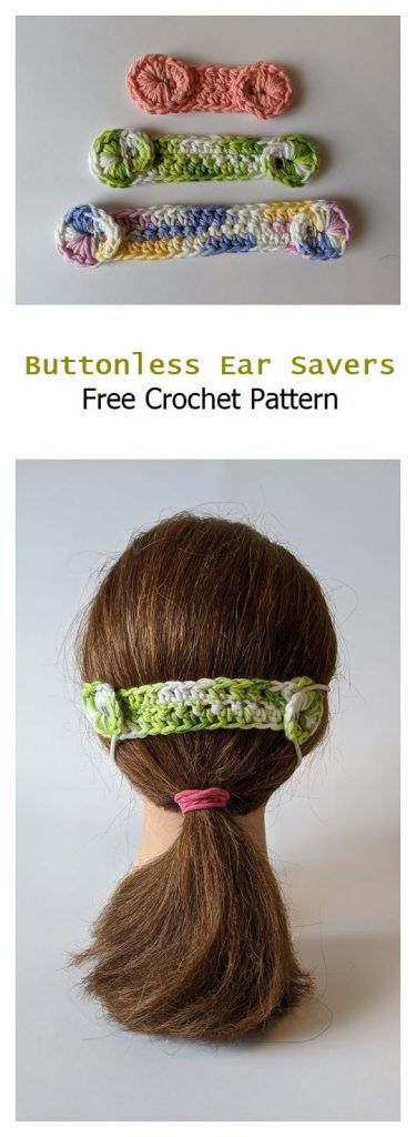 Buttonless Ear Savers Free Crochet Pattern