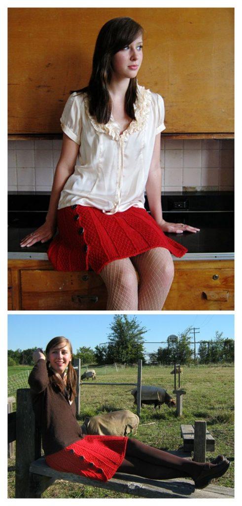 Carnaby Skirt Free Knitting Pattern