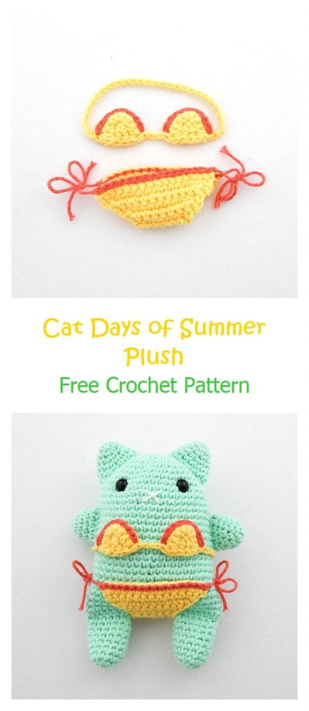 Cat Days of Summer Plush Pattern